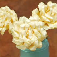 Dried Corn Husk Roses (Limited Stock)