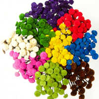 Dried Floral Button Flowers - Colors
