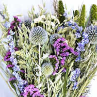 Dried Flower Bouquet Blue Bunch