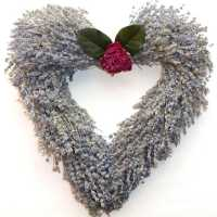 Lavender Wreath - Heart Shaped