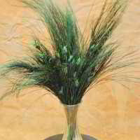 Dyed Nut Grass - Green