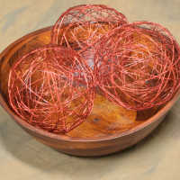 Decorative Wire Balls - 6 inch Red