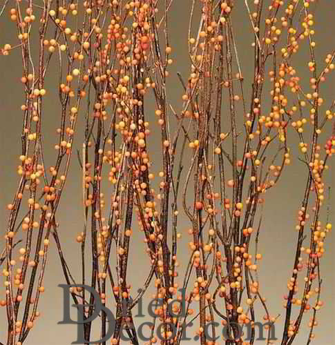 Berry Birch Branches - Bittersweet (Orange) - Click Image to Close