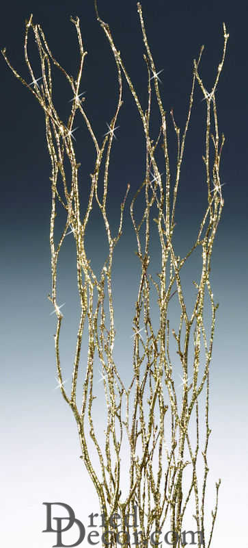 Gold Glittered Birch Branch Bunch - Click Image to Close