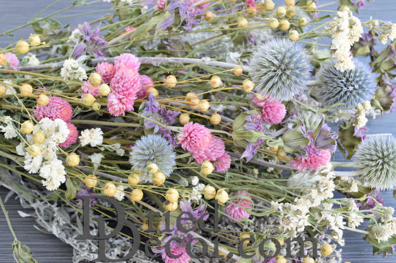 Dried Pastel Flower Bouquet - Click Image to Close