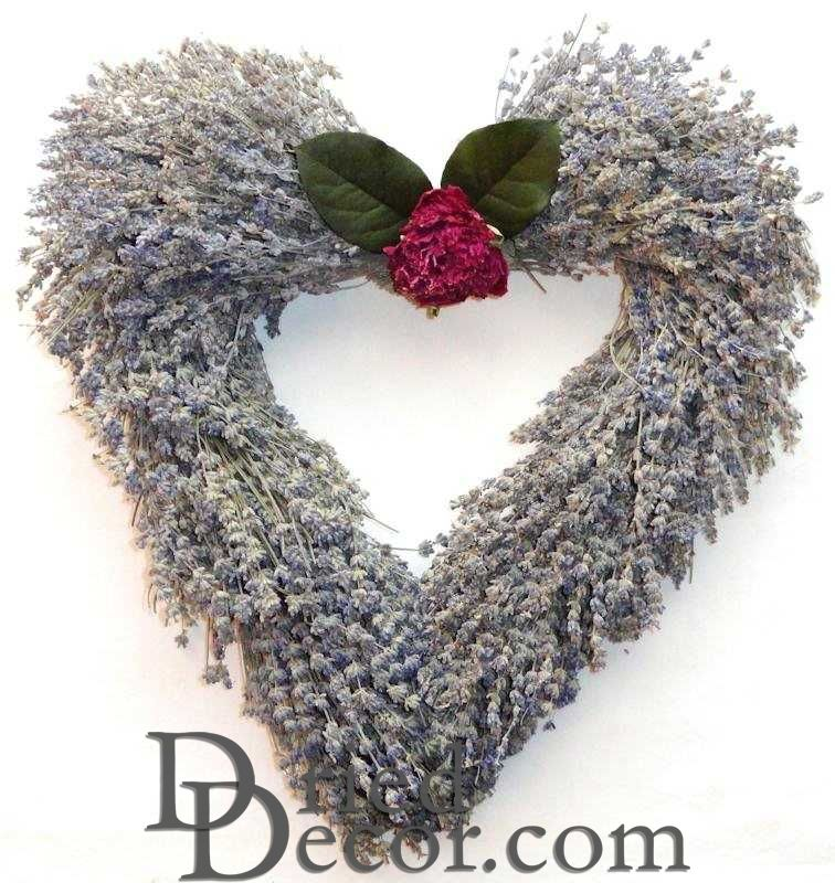Lavender Wreath - Heart Shaped - Click Image to Close