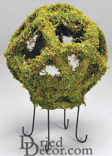 Moss Globe 18 inch with Stand - Click Image to Close