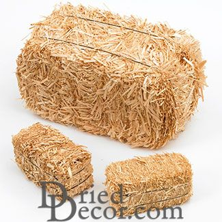 Miniature straw bales - 20 inch - Click Image to Close
