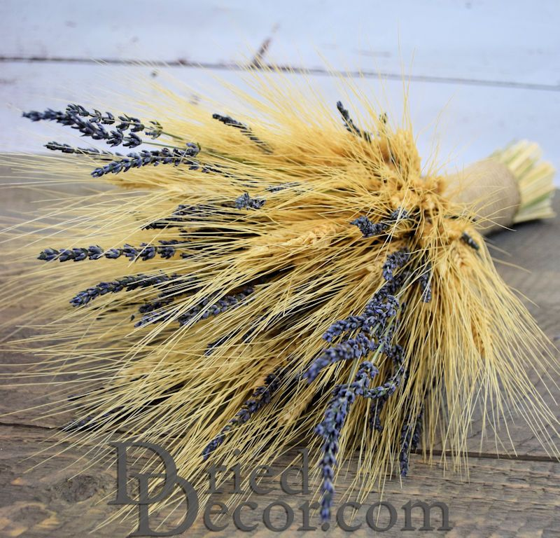 Vintage Wheat and Lavender Bouquet - 1LB - Click Image to Close