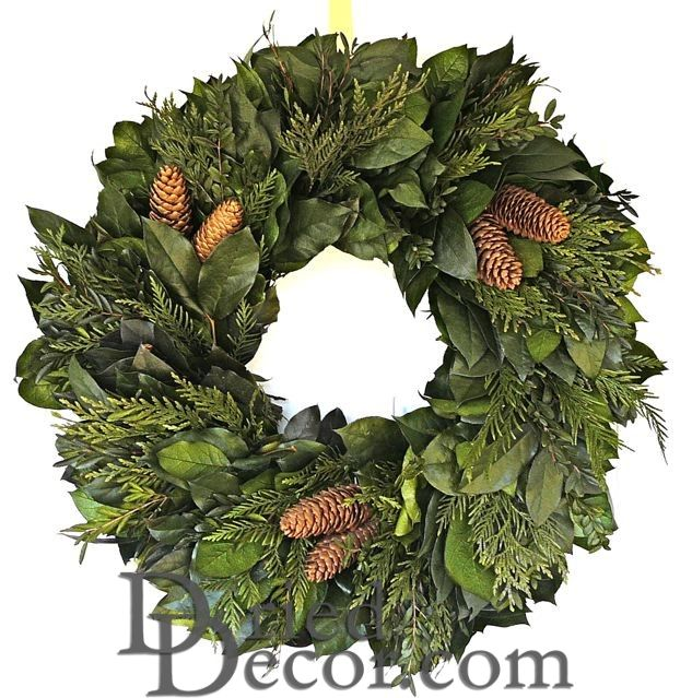 Celebrate Evergreens Wreath - Dried Wreath - Click Image to Close