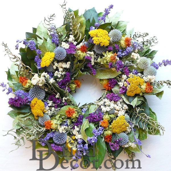 Little Garden Wreath - Dried 15 inch - Click Image to Close