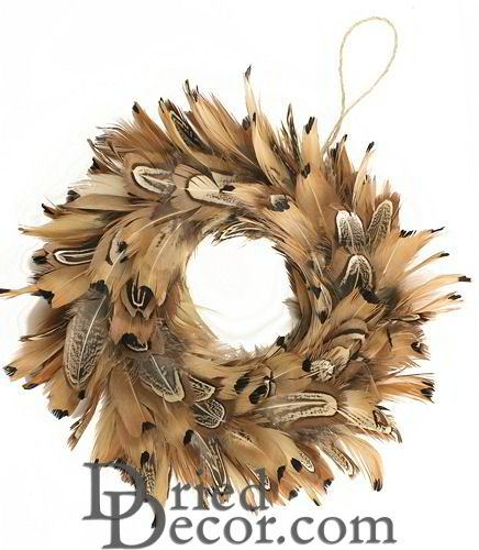 "Ring neck Pheasant Wreath 8"" Diameter - Click Image to Close"