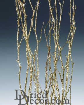 Gold Glittered Birch Branch Bunch