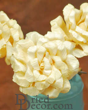 Dried Corn Husk Roses