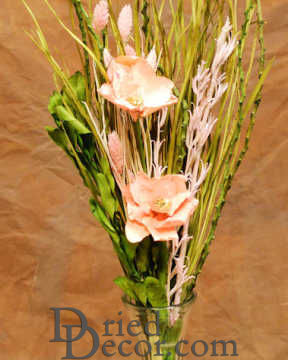Dried Pink Rose Bouquet