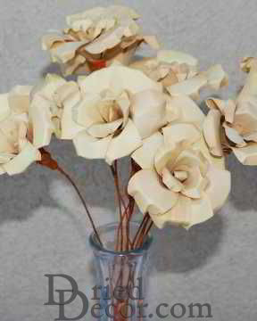 Wood Palm Roses Bunch [DD,717435002126]
