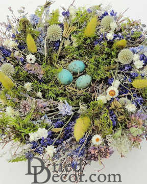 Dried Spring Nest Centerpiece