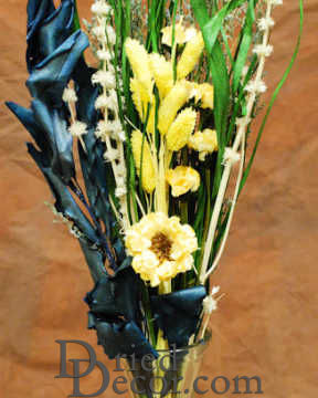 Yellow Green Blue Flower Bouquet