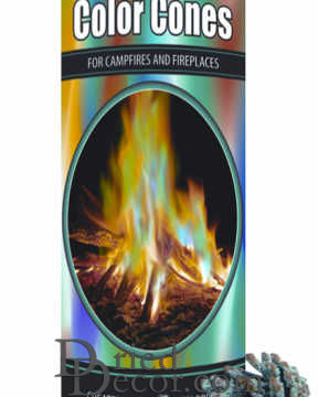 Magic Crystal Cones Canister for Colored Fires