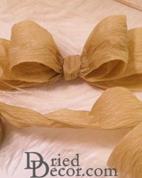 Natural Paper Ribbon - 3 rolls of Brown