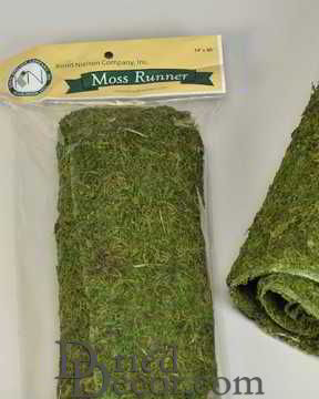 "Dried Moss Table Runner 14""x48"""