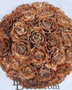 Pine Cone Rose Ball 6 inch