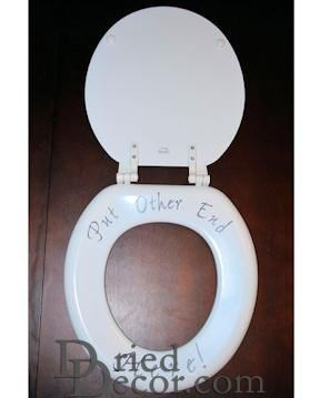 Toilet Seat with Personalized Message -- birthday gag gifts