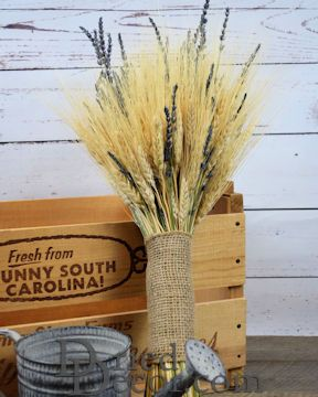 Vintage Wheat and Lavender Bouquet - 1LB