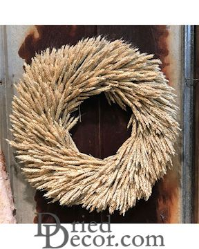 Dried Rye Wreath - 22 inch natural