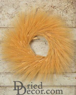 Extra Large Natural Wheat Wreath - 28 inch