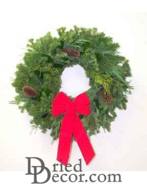 Fresh Evergreen Holiday Wreath