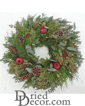 Fresh Rustic Holiday Wreath