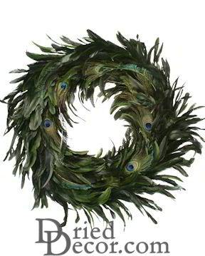 Peacock Feather Wreath - 14-18 inch wreath