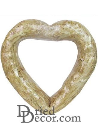 Heart Straw Wreath Form - 12 inch Craft Straw Wreath