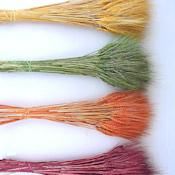 Dyed Wheat Stocks (Red, Green, Orange, Yellow)