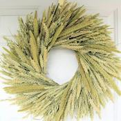 Green Mixed Wheat Wreath - 19 inch
