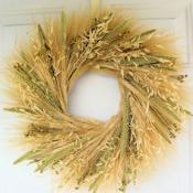 Mixed Grain Wheat Wreath - 19 inch