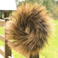 Extra Large Natural Blackbeard Wheat Wreath - 28 inch