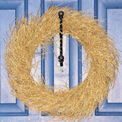 Decorative Gold Twig Wreath