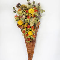 Dried Flower Cornucopia - Horn of Thanksgiving