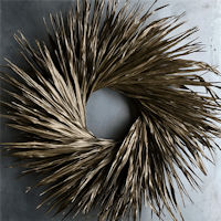 Dried Palm Leaf Wreath - Bronze