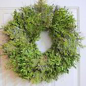 Fresh Juniper/Boxwood Holiday Wreath