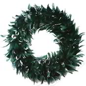 Goose Coquille Feather Wreath 15 inch