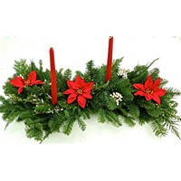 Fresh Holiday Poinsettia Centerpiece