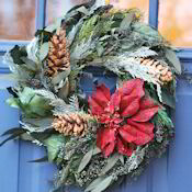 Poinsettia Festive Holiday Wreath