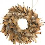 "Ring neck Pheasant Wreath 8"" Diameter"