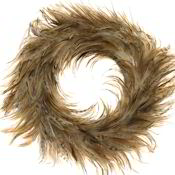 Red Chinchilla Rooster Feather Wreath 18""