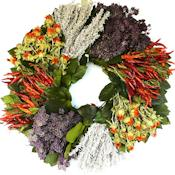Dried Southwest Herb Wreath - 19 inch